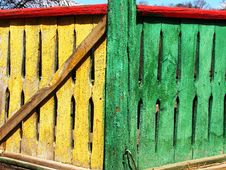 Free Russian Colorful Fence Stock Photo - 14293510