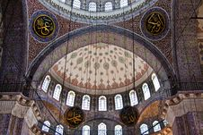 Dome Of The New Mosque, Istanbul Royalty Free Stock Images