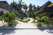 Pool Area At A Beach Resort In Zanzibar Stock Photography