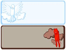Angel And Demon Frame Stock Images