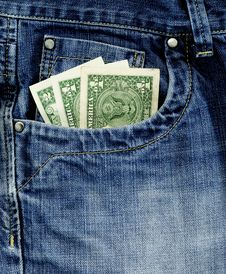 Free Jeans And Money Stock Photo - 14294350