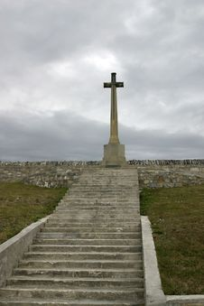 Free Cross Monument For Death In Falkland War Royalty Free Stock Images - 14294619