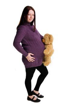 Beautiful Pregnant  Girl Stock Images