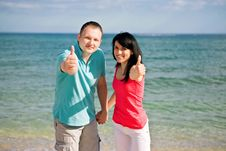 Free A Couple On Beach Royalty Free Stock Photography - 14294847
