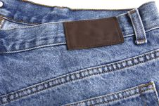 Free Denim Blue Jeans Rear With Label Stock Photography - 14294882