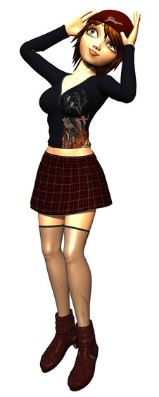 Grunge Pinup Girl 9 Stock Images