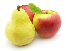 Apples With Pear Stock Image