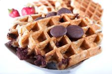 Free Waffles From Integral Wholegrain With Chocolate Stock Photo - 14295280