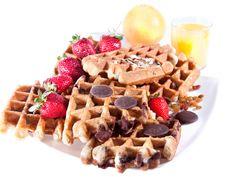 Free Fine Decorated Waffles Stock Photo - 14295330