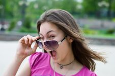 Free Teen Girl In Sunglasses Royalty Free Stock Image - 14295636