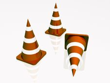 Free Precautionary Cones Stock Image - 14295701