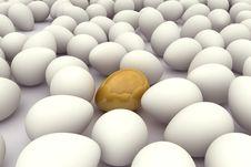 Free Original Egg Among Thousand Various Royalty Free Stock Image - 14296156
