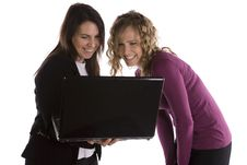Free Women Looking At Computer Royalty Free Stock Photo - 14296295