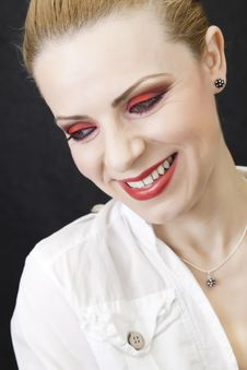Free Red Makeup Royalty Free Stock Photo - 14296625
