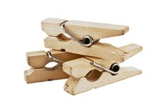 Free Wooden Clothespins Royalty Free Stock Photo - 14297145