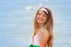 Free Outdoor Portrait Of Happy Girl Royalty Free Stock Photo - 14297315