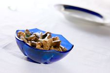 Free Salad From Salted Mushroom Royalty Free Stock Image - 14297406