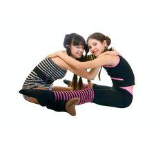 Free Two Fun Teen Girls Stock Photography - 14297452