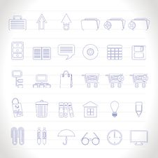 Free Business And Office Icons Stock Photography - 14297852