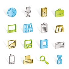 Free Business And Office Icons Royalty Free Stock Image - 14297856