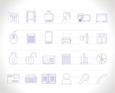 Free Business And Office Icons Royalty Free Stock Photography - 14297867