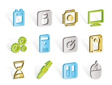 Free Computer And Mobile Phone Elements Icon Stock Photography - 14297882