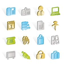 Free Business And Office Icons Stock Photography - 14297902