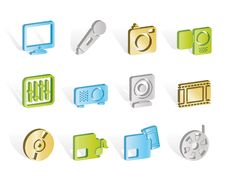 Free Media Equipment Icons Royalty Free Stock Images - 14297909