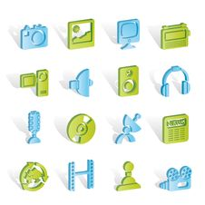Free Media And Household Equipment Icons Stock Photography - 14297912