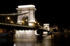 Free Chain Bridge At Night Royalty Free Stock Photo - 14297945