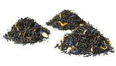 Piles Of Black Tea Isolated On White Royalty Free Stock Photography