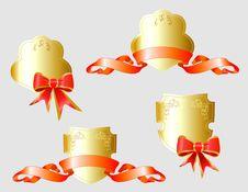 Free Vector Set Of Gold Heraldic Symbols Stock Photography - 14298652