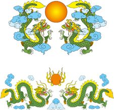 Free Dragon Set Two Stock Image - 14299011