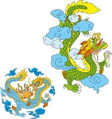 Free Dragon Set Three Royalty Free Stock Images - 14299019
