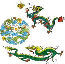 Free Dragon Set Five Stock Photos - 14299033