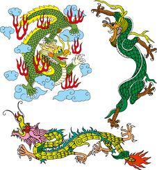 Free Dragon Set Seven Royalty Free Stock Photos - 14299058