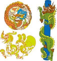 Free Dragon Set Eight Royalty Free Stock Images - 14299069