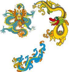 Free Dragon Set Nine Stock Image - 14299071