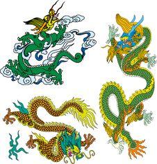 Free Dragon Set Ten Stock Photo - 14299080