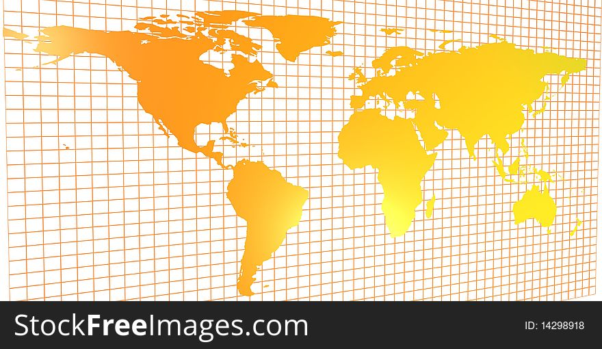 2d World Map Free Stock Images Photos 14298918