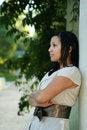 Free Girl Posing With Pillar (Multiuses) 2 Royalty Free Stock Image - 1433426