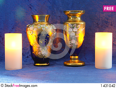 Free Still Life In Blue And Gold 1 Stock Photography - 1431042