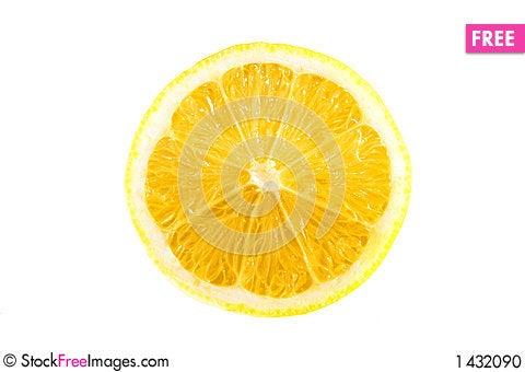 Lemon on a white background Stock Photo