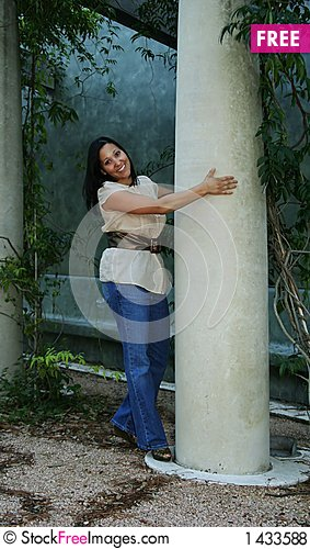 Free Girl Posing With Pillar (Multiuses) 10 Royalty Free Stock Photos - 1433588