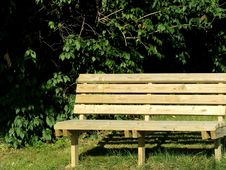 Free Sunny Park Bench Royalty Free Stock Photography - 1430127