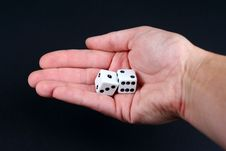 Free Dice In Hand Royalty Free Stock Photo - 1430325