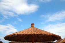 Free Beach Umbrella And Beds Stock Image - 1430491