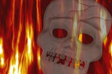 Free Skull On Fire Stock Image - 1430811