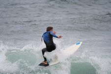 Free Surfer In The Wave Royalty Free Stock Photography - 1431487