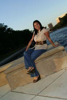 Enjoying Sunset 3 Stock Photo